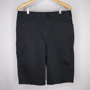 Lauren by Ralph Lauren Black BERMUDA Shorts 12